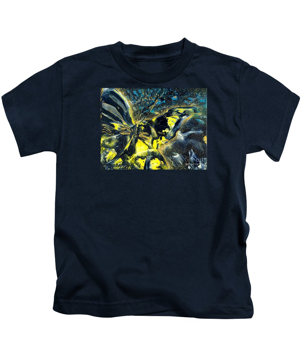 Butterfly Kids T-Shirt featuring the painting Freedom For Margot by Heather Hennick