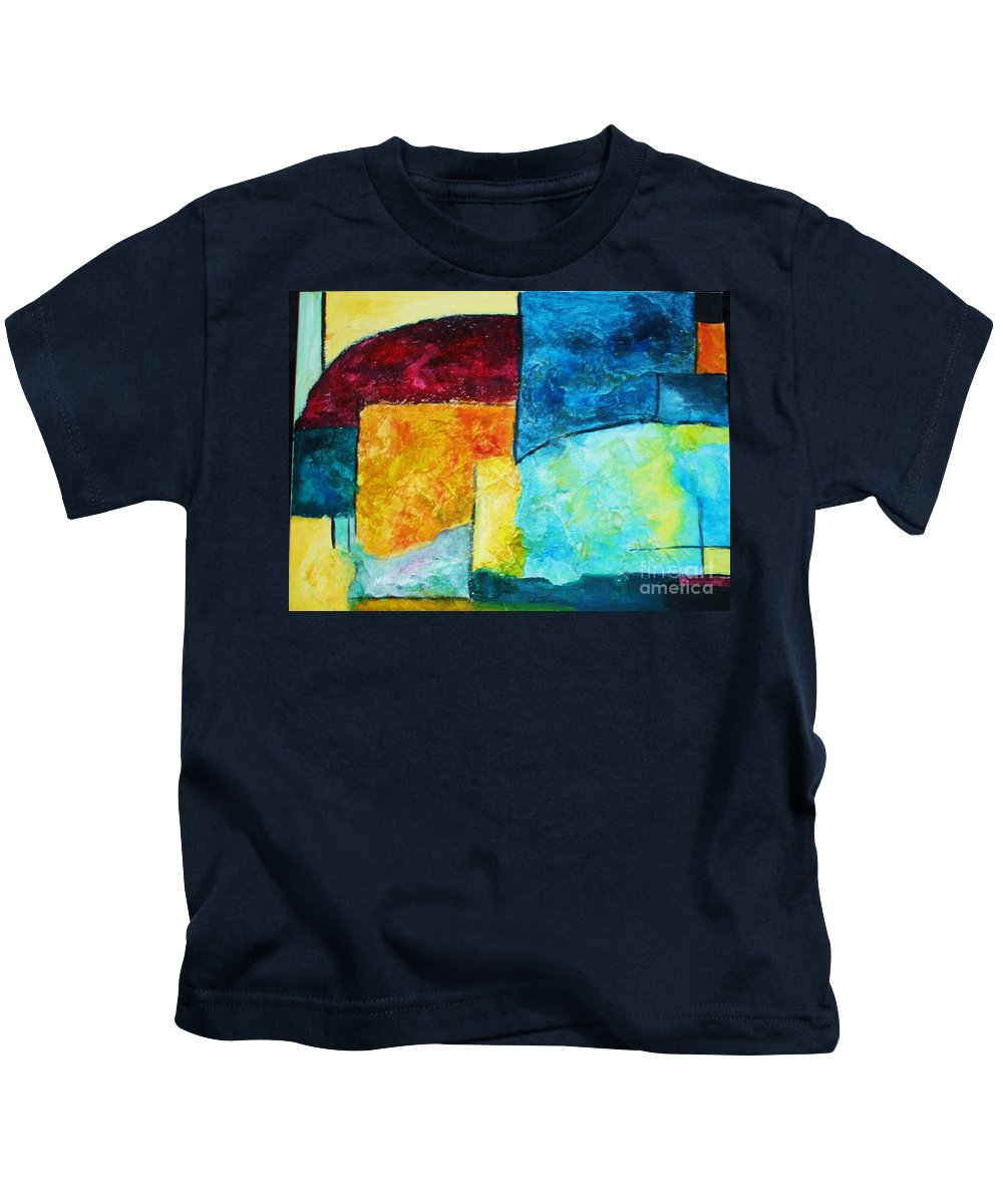 Acrylic Painting Kids T-Shirt featuring the painting Freedom by Yael VanGruber