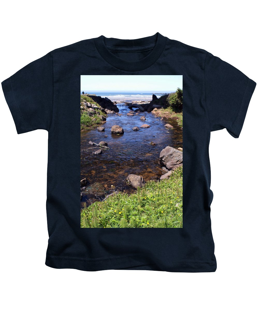 Ocean Kids T-Shirt featuring the photograph From The Mountains To The Sea by Ben Upham III