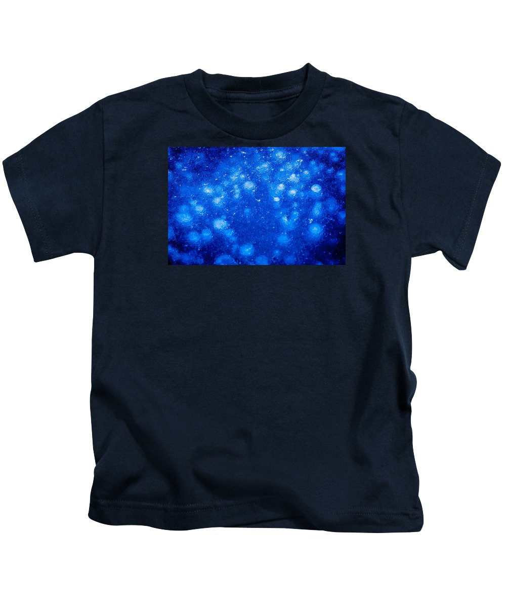 70-210 2.8 Kids T-Shirt featuring the photograph Frozen Bubbles by Alvin Sangma