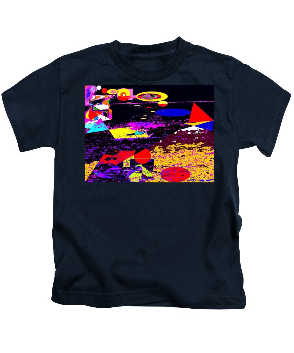 Abstract Kids T-Shirt featuring the digital art Galactic Voyages by Ian MacDonald
