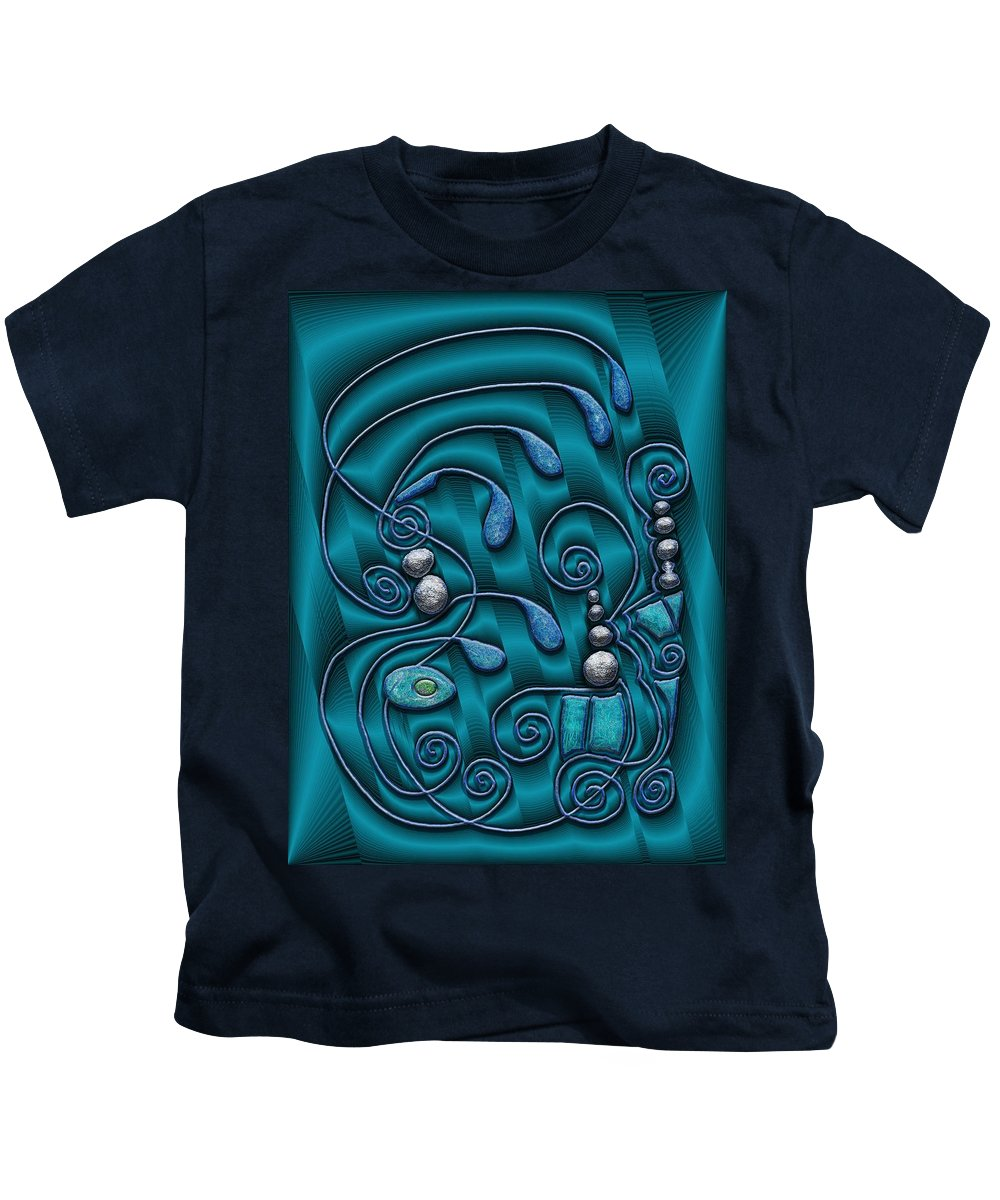 Surrealism Kids T-Shirt featuring the digital art Gate To Atlantis by Mark Sellers