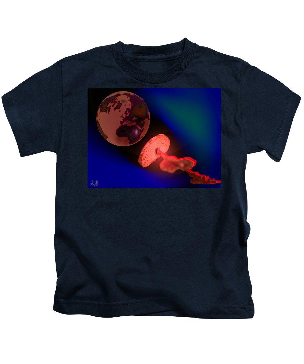 Bread Kids T-Shirt featuring the digital art gl o bal Bread by Helmut Rottler