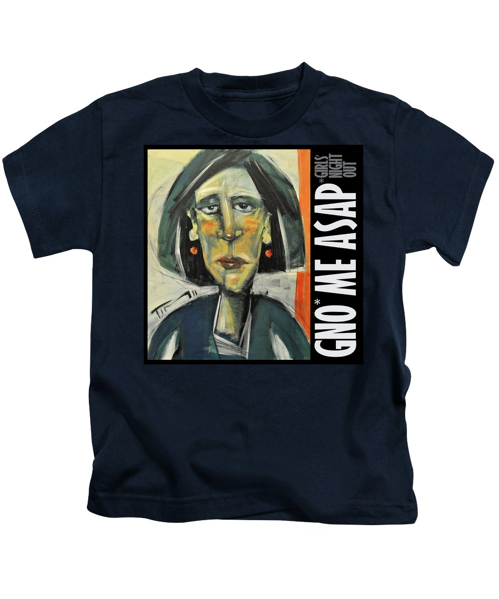 Girl Kids T-Shirt featuring the digital art Gno Me Asap by Tim Nyberg