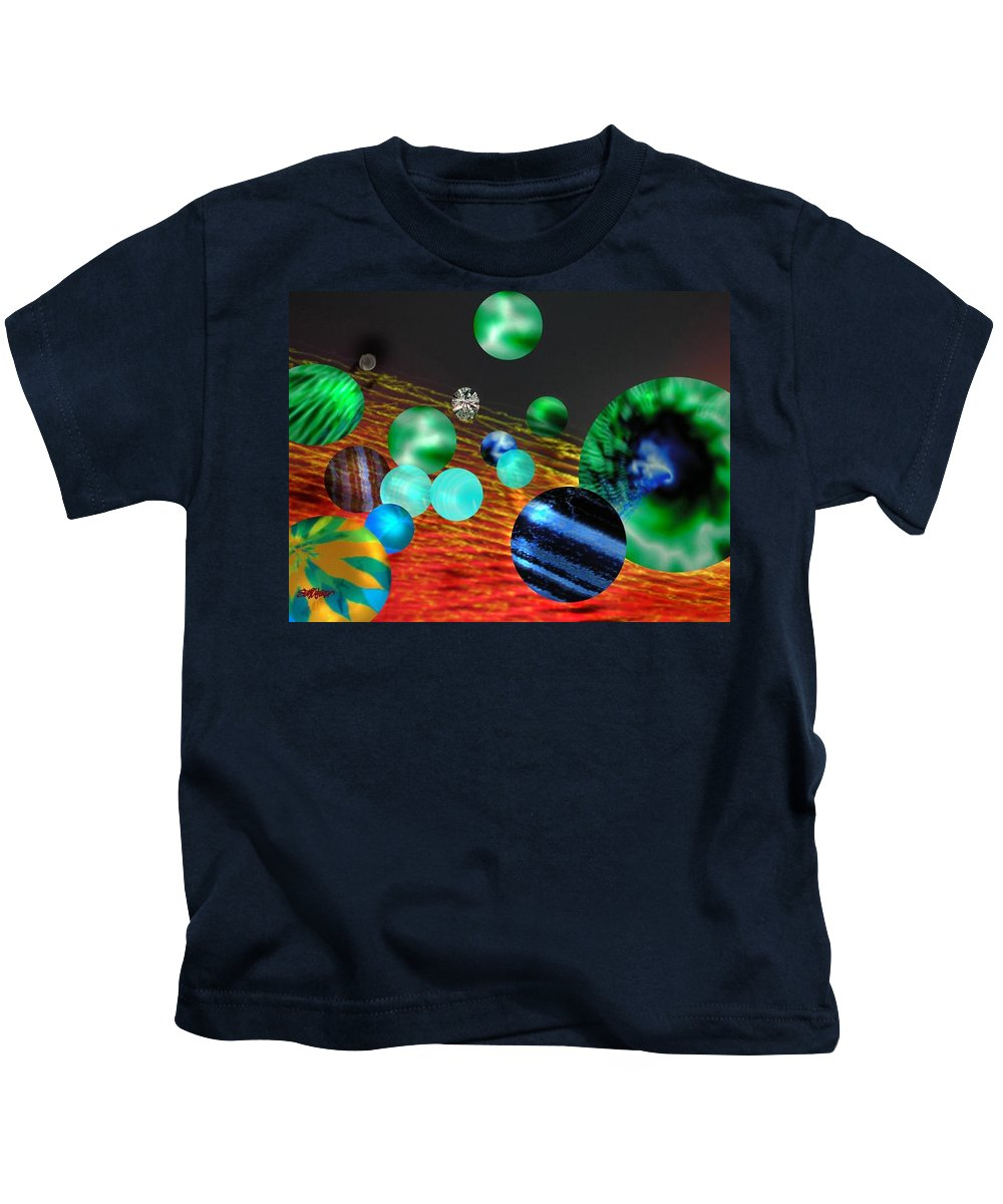 A Tribute To Donovan And His Song cosmic Wheels. A Line In The Song...god Is Playing Marbles With Kids T-Shirt featuring the digital art God Playing Marbles Tribute To Donovan by Seth Weaver