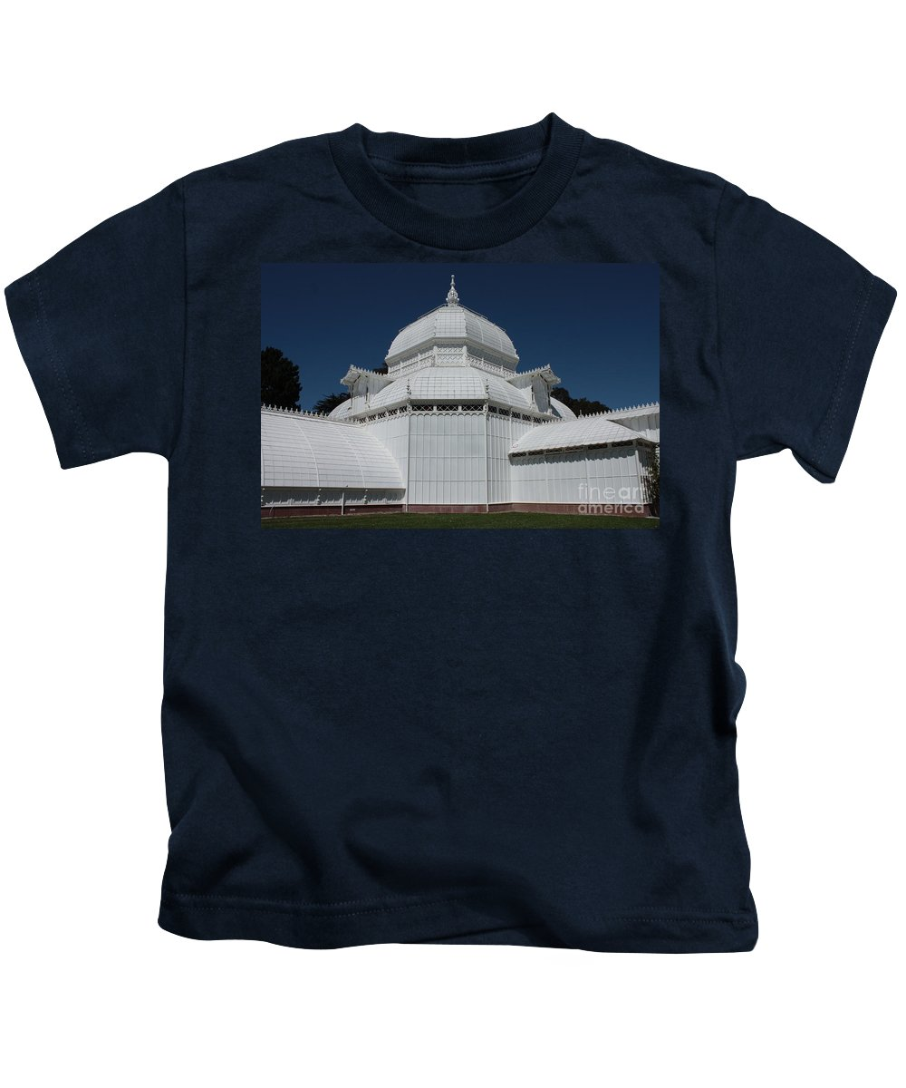 White Kids T-Shirt featuring the photograph Golden Gate Conservatory by Carol Groenen