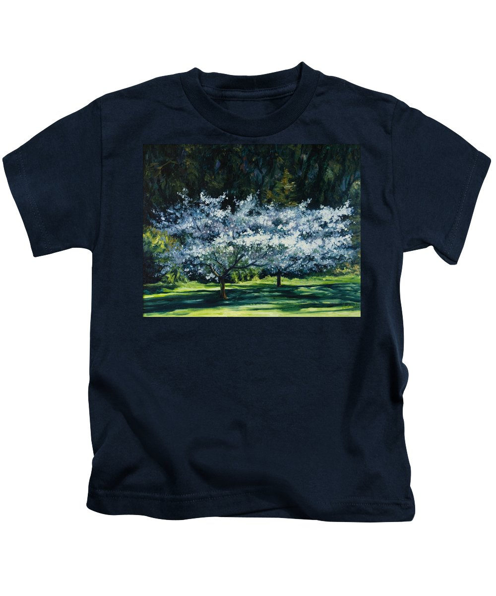 Trees Kids T-Shirt featuring the painting Golden Gate Park by Rick Nederlof