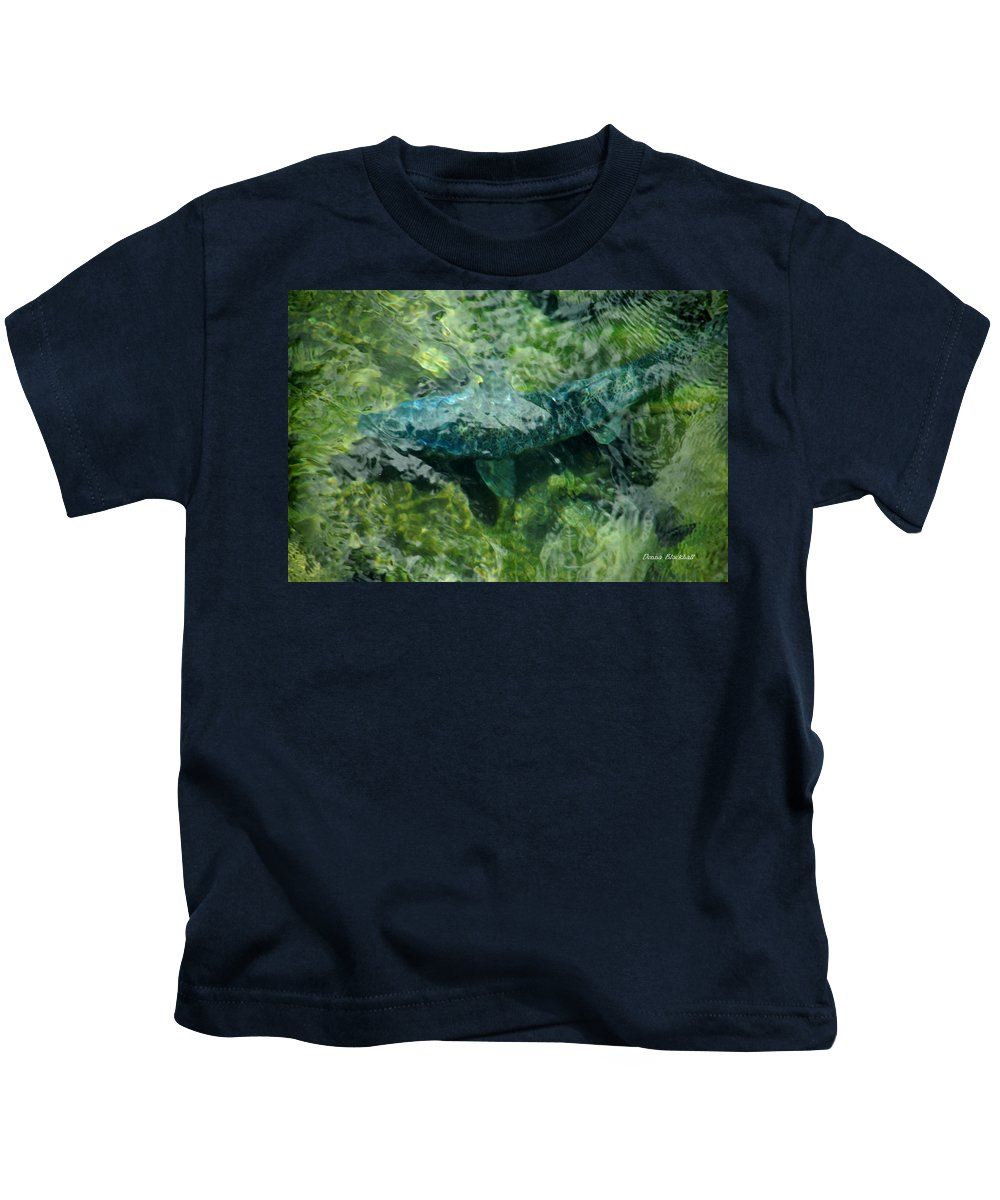 Water Kids T-Shirt featuring the photograph Gone Fishin by Donna Blackhall