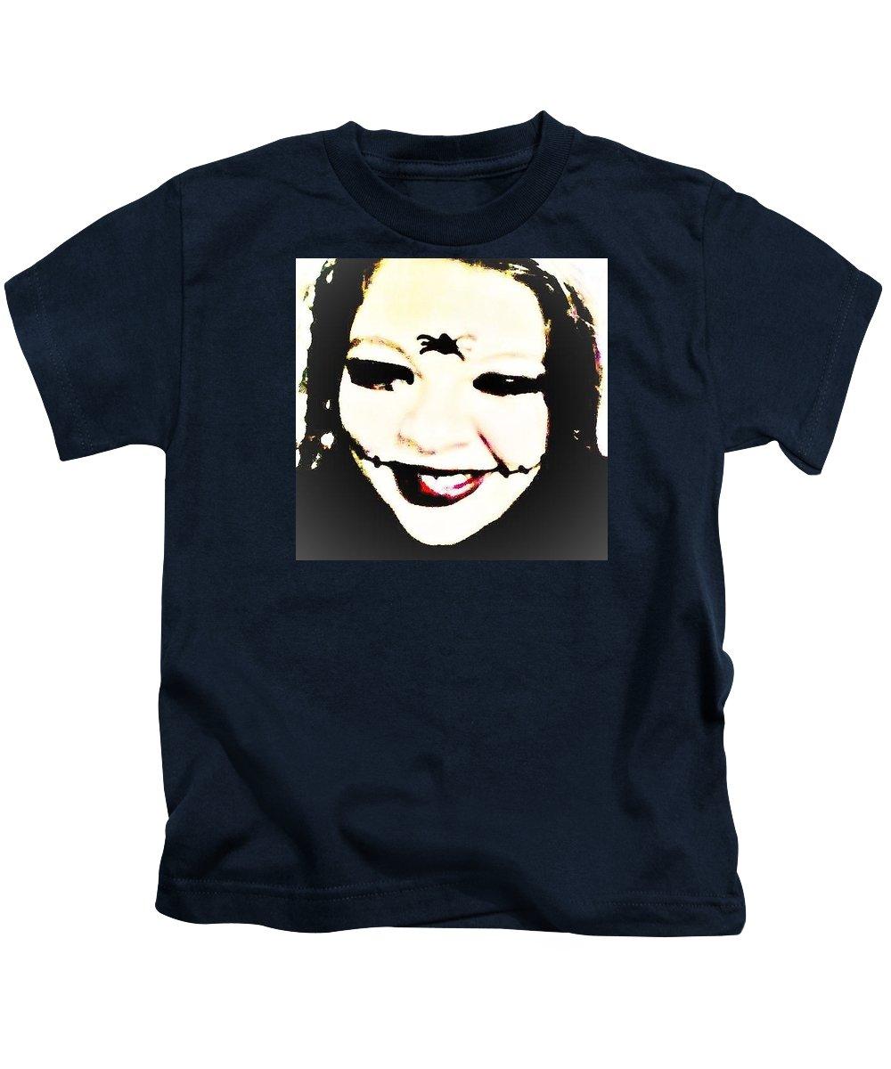 Joker Kids T-Shirt featuring the photograph Gothic Joker by Jessie Holloway