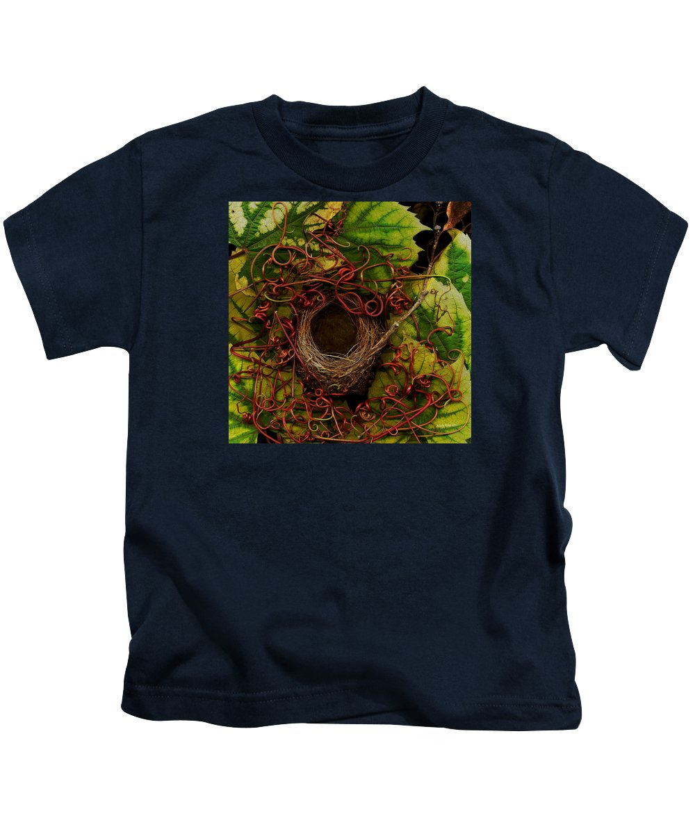 Bird Kids T-Shirt featuring the photograph Grape Nest by Marty Klein