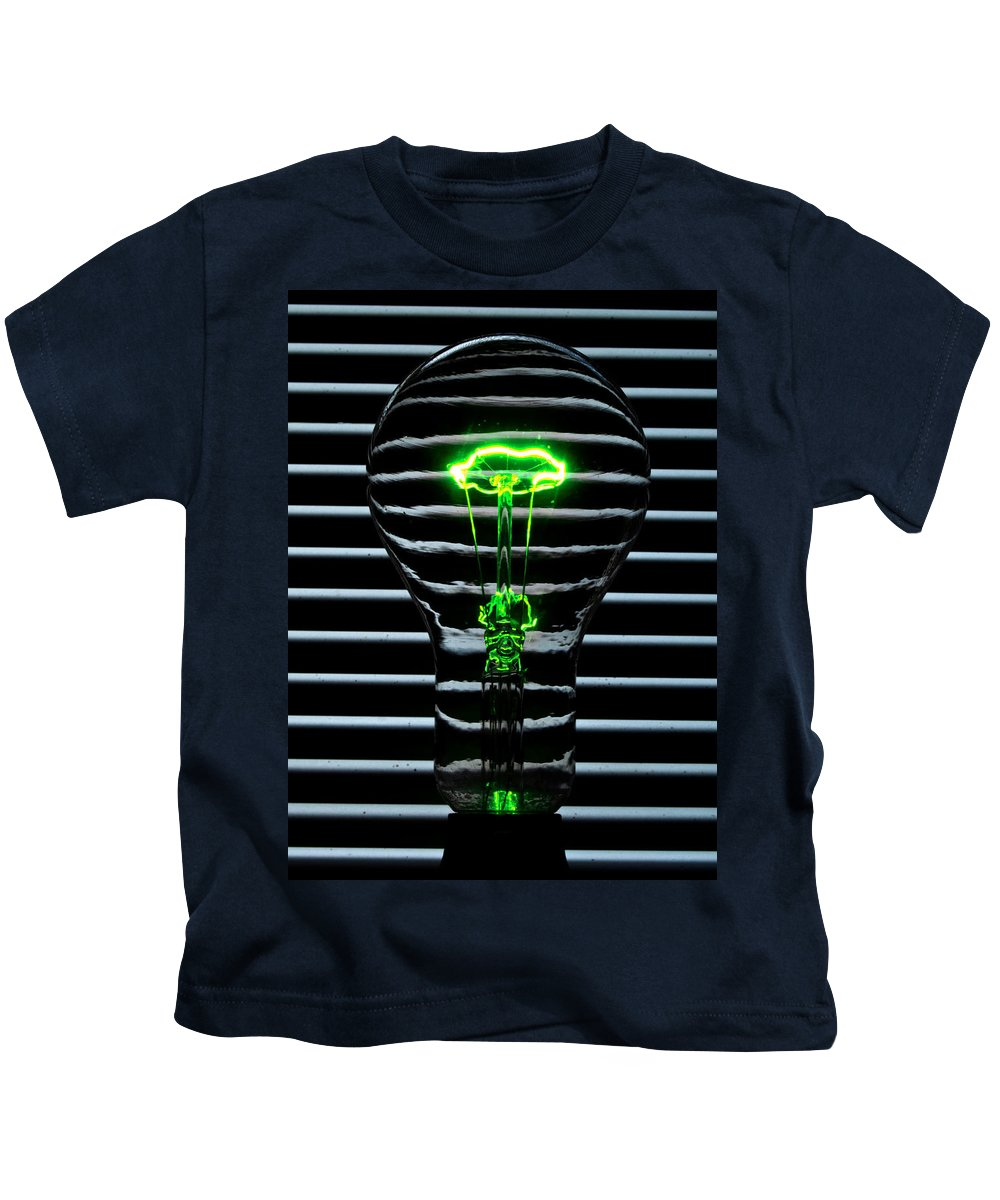 Green Kids T-Shirt featuring the photograph Green Bulb by Rob Hawkins