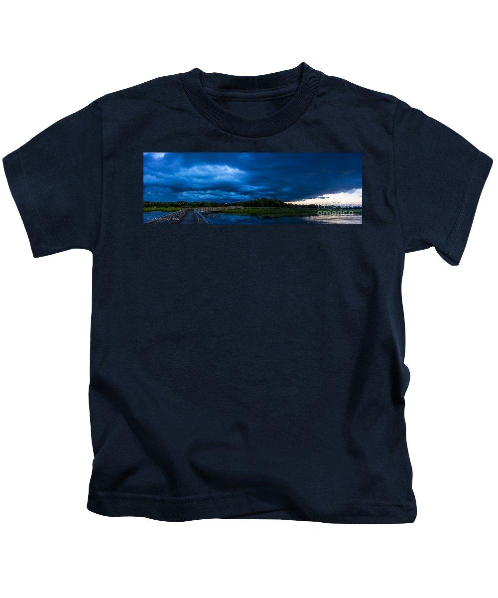 Boynton Beach Kids T-Shirt featuring the photograph Green Cay Storm 5 by Nancy L Marshall