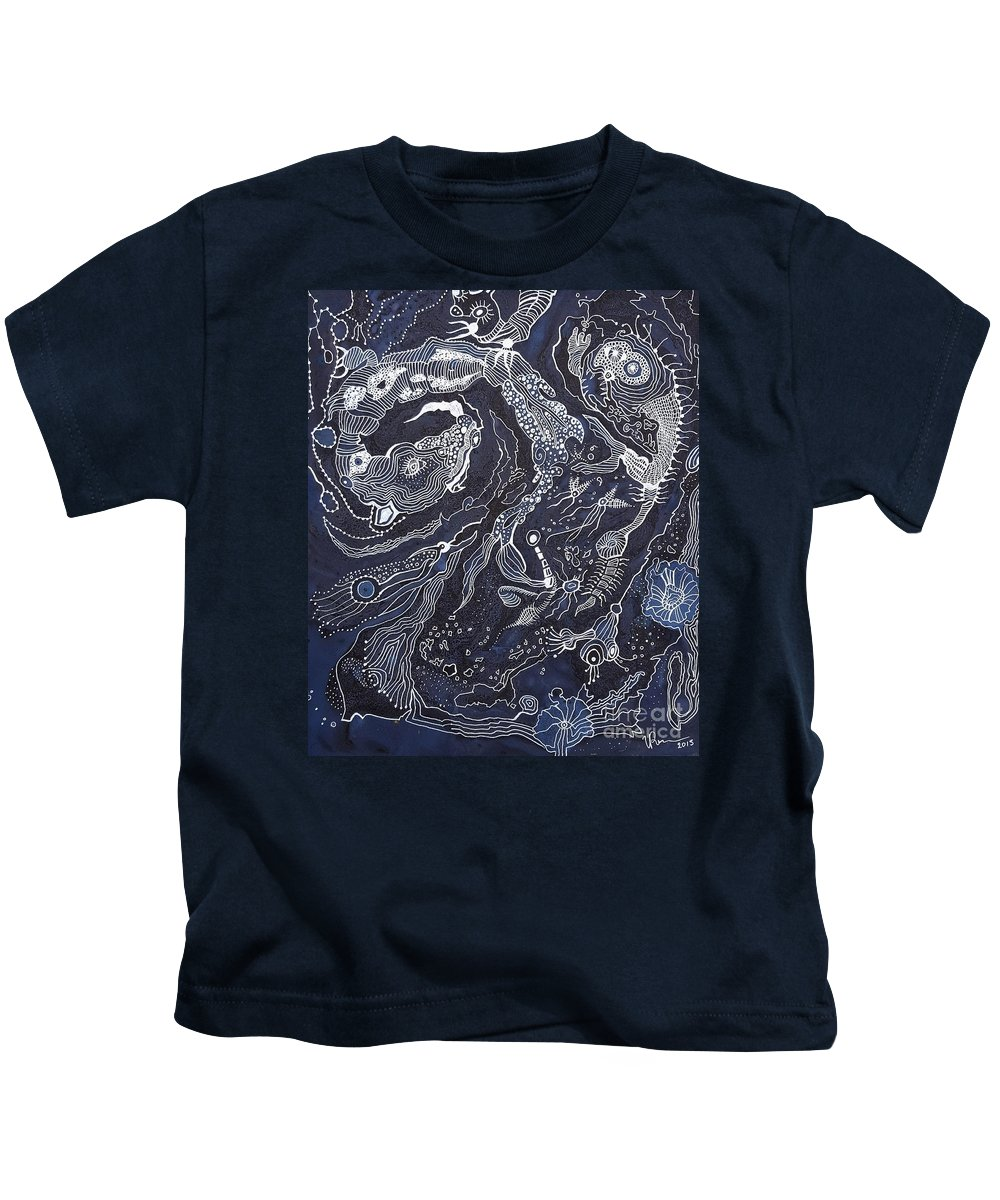 Abstraction Kids T-Shirt featuring the tapestry - textile Greeting by Valentina Prezanti