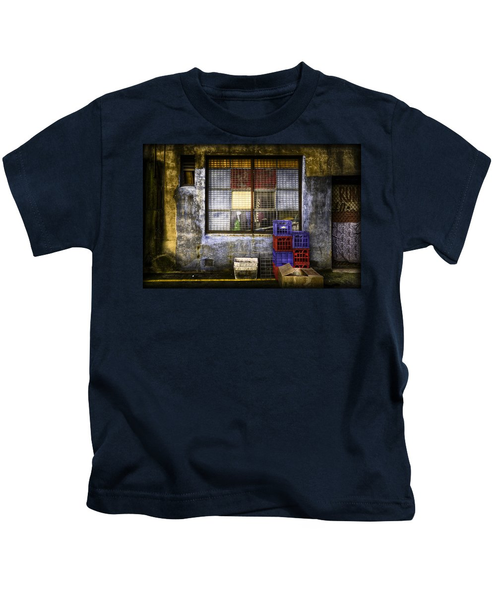Grunge Kids T-Shirt featuring the photograph Grunge Dept by Wayne Sherriff