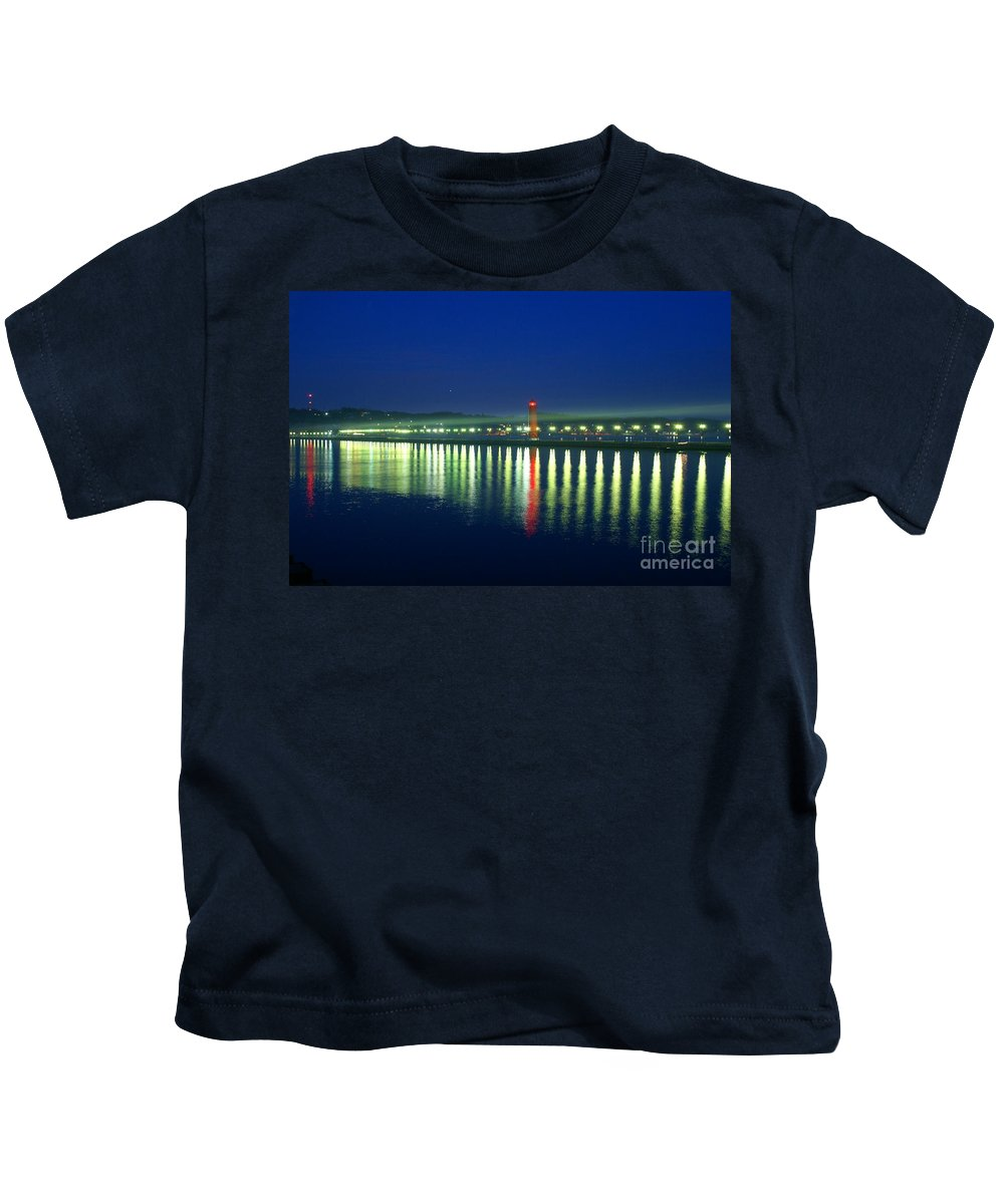 Pier Kids T-Shirt featuring the photograph Guiding Light by Robert Pearson