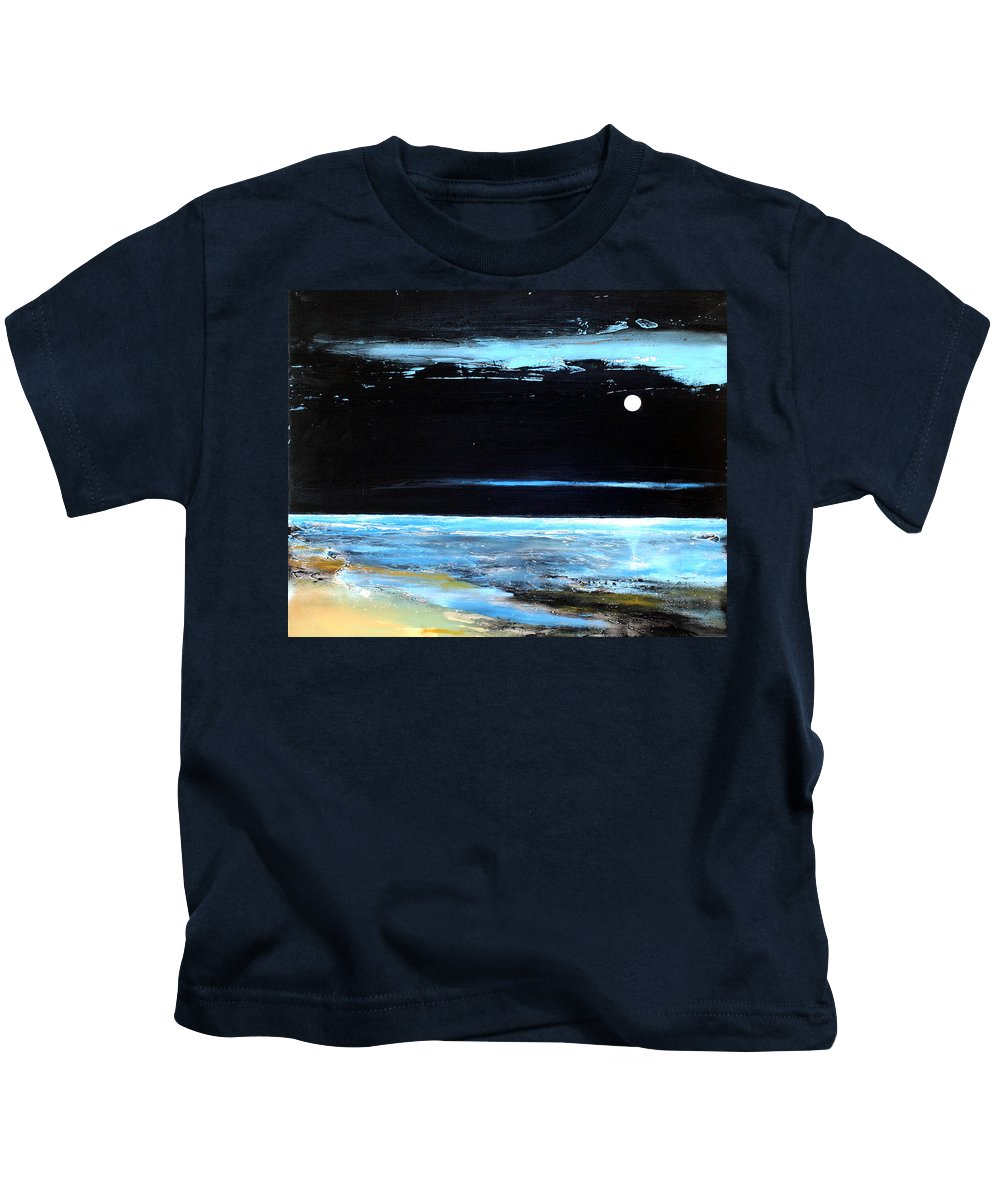 Landscape Kids T-Shirt featuring the painting Guiding Light by Toni Grote