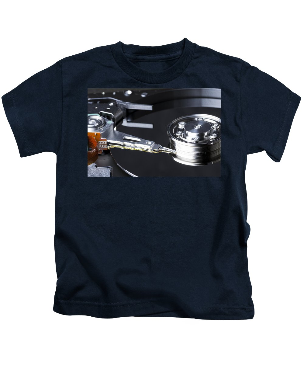 Industry Kids T-Shirt featuring the photograph Hard Disk by John Trax