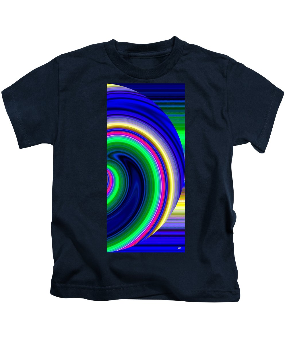 Abstract Kids T-Shirt featuring the digital art Harmony 19 by Will Borden