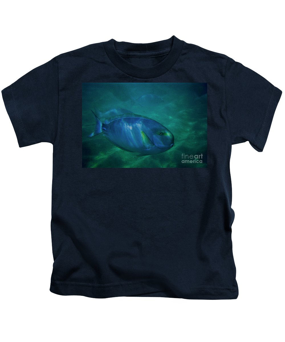Lagoon Kids T-Shirt featuring the photograph Hawaiian Tang Fish by Tommy Anderson
