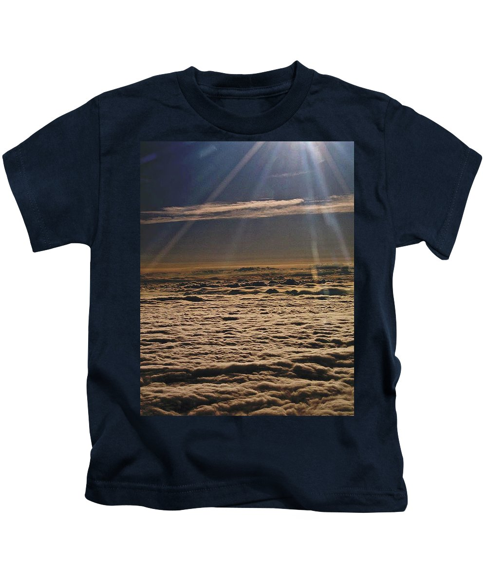 Sun Kids T-Shirt featuring the photograph Heaven Above The Clouds by Trish Tritz