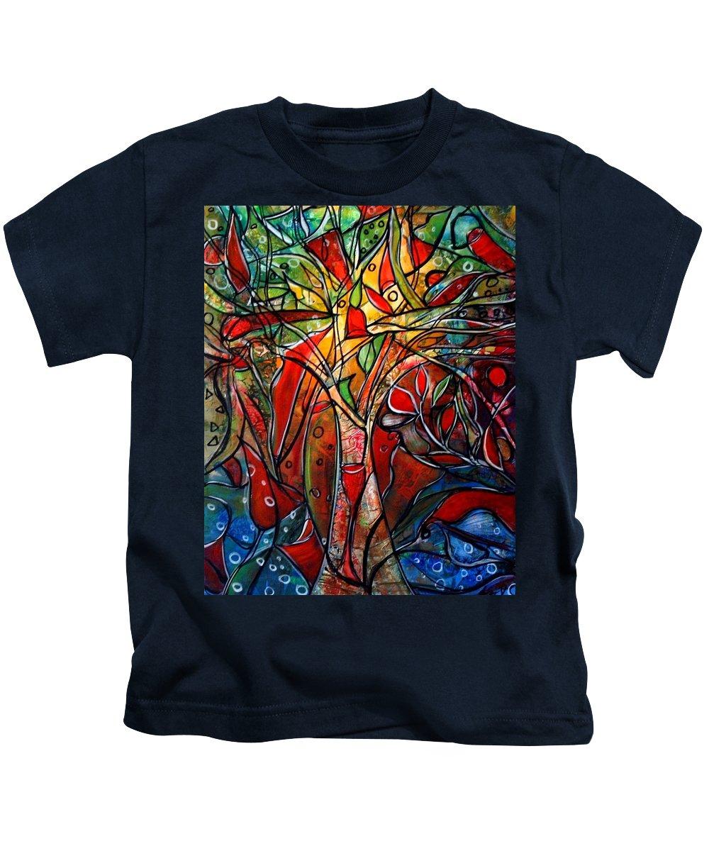 Landscape Kids T-Shirt featuring the painting Hidden Treasure by Luiza Vizoli