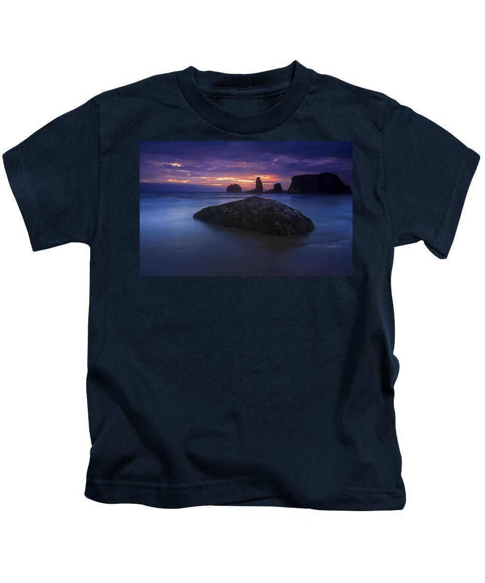 Sunset Kids T-Shirt featuring the photograph Hint Of Light by Mike Dawson
