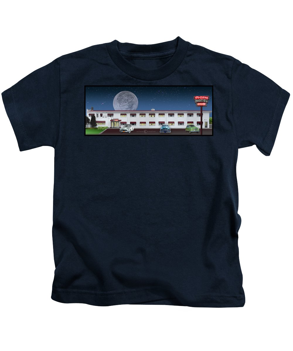 Motel Kids T-Shirt featuring the photograph Holiday Motel by Tim Nyberg