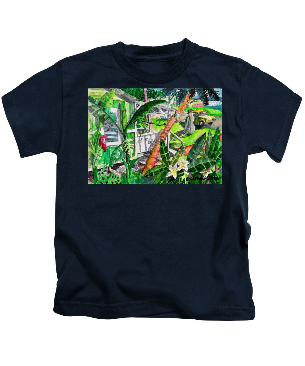 Christmas Kids T-Shirt featuring the painting Home For The Holidays by Eric Samuelson