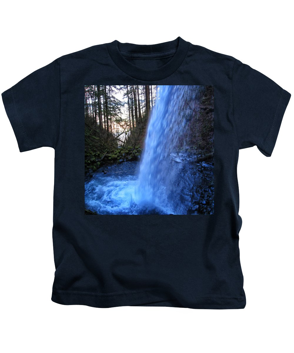 Clearwater Falls Kids T-Shirt featuring the photograph Horsetail Falls 2 by Ingrid Smith-Johnsen