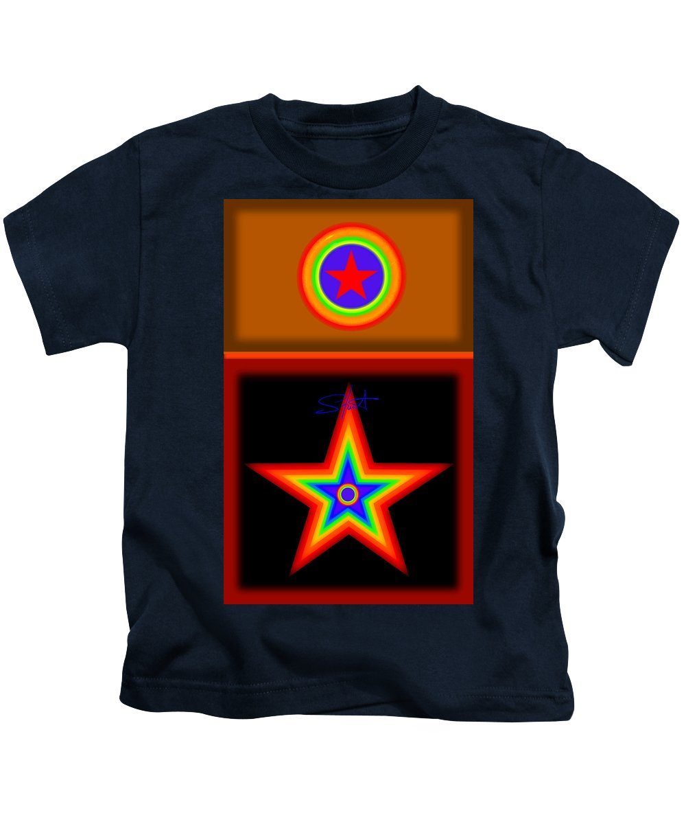 Classical Kids T-Shirt featuring the painting Hot Circus Stuff by Charles Stuart