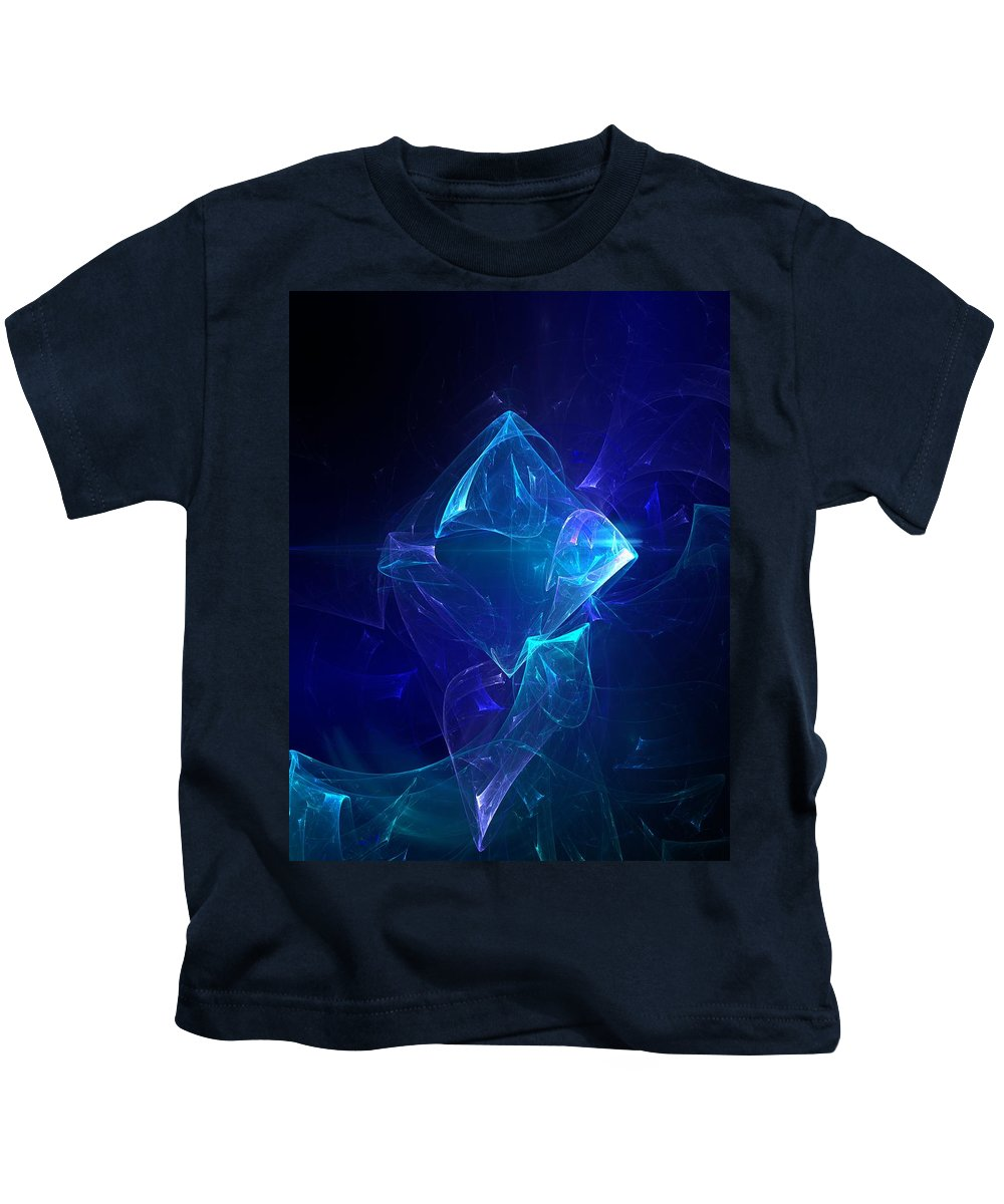 Abstract Digital Photo Kids T-Shirt featuring the digital art I Had Too Much To Dream Last Night by David Lane