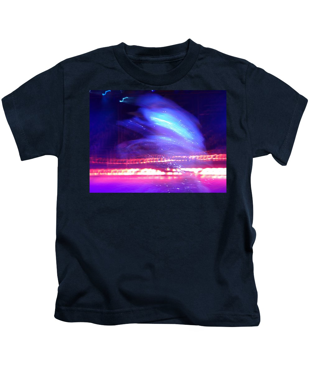 Icedance Kids T-Shirt featuring the digital art Icedance by Are Lund