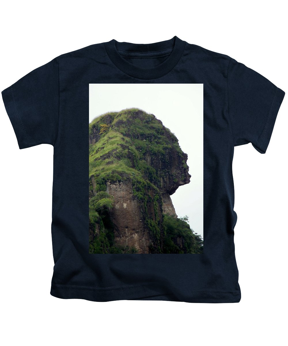 Face Kids T-Shirt featuring the photograph Image Of A Woman by Karen Wiles