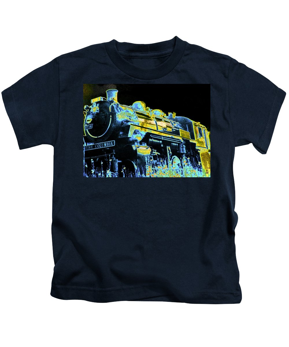 Impressions Kids T-Shirt featuring the digital art Impressions 11 by Will Borden