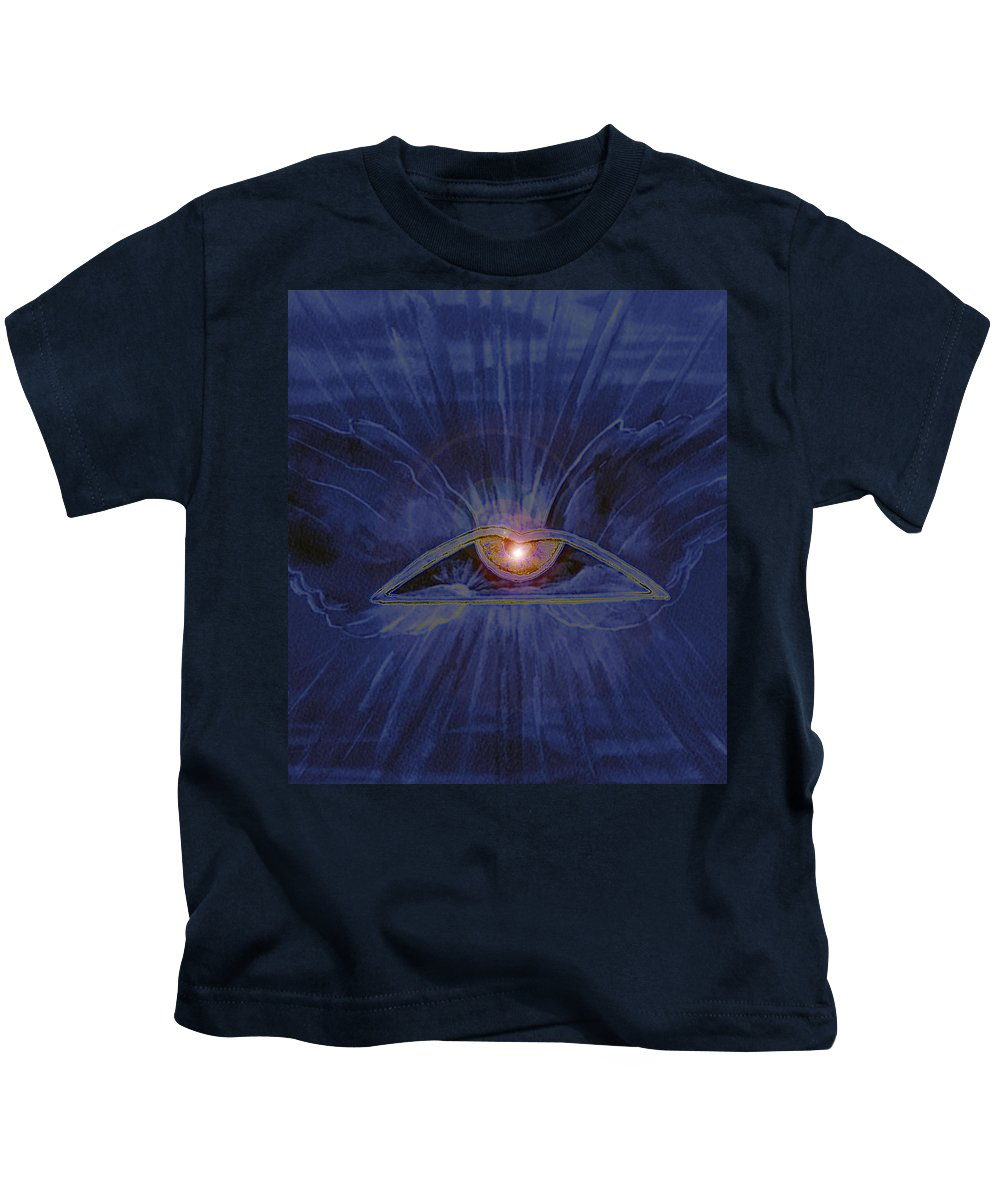 Watercolor Kids T-Shirt featuring the painting In Dream's Eye by Brenda Owen