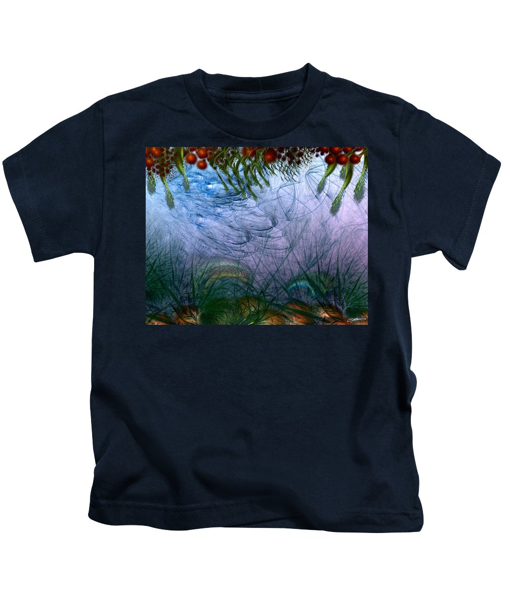 Abstract Kids T-Shirt featuring the digital art Incursion Into The Inversion by Casey Kotas