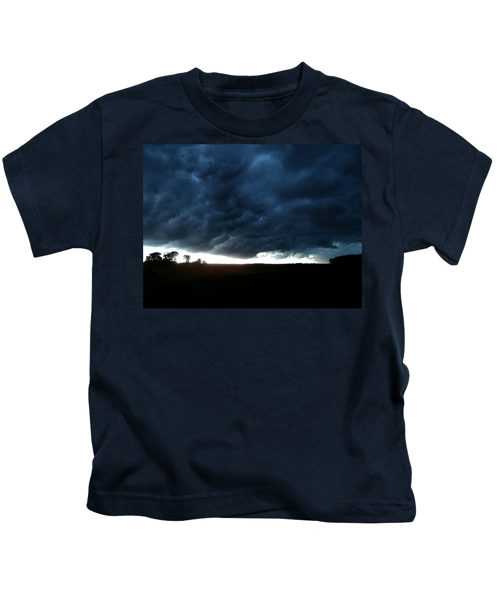 Indiana Kids T-Shirt featuring the photograph Indiana Storm Front by Dan McCafferty
