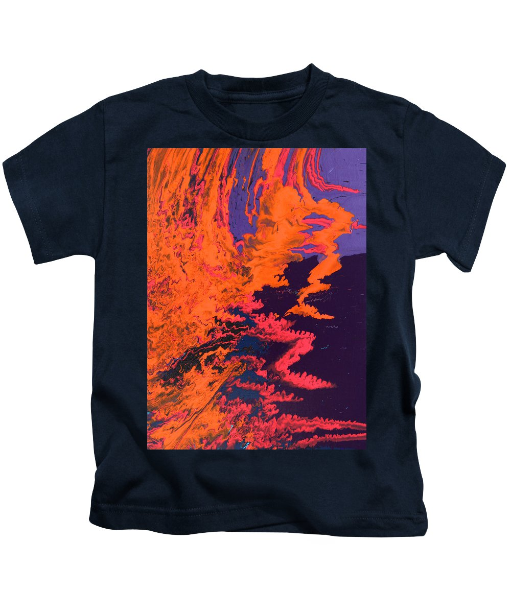 Fusionart Kids T-Shirt featuring the painting Initiative by Ralph White