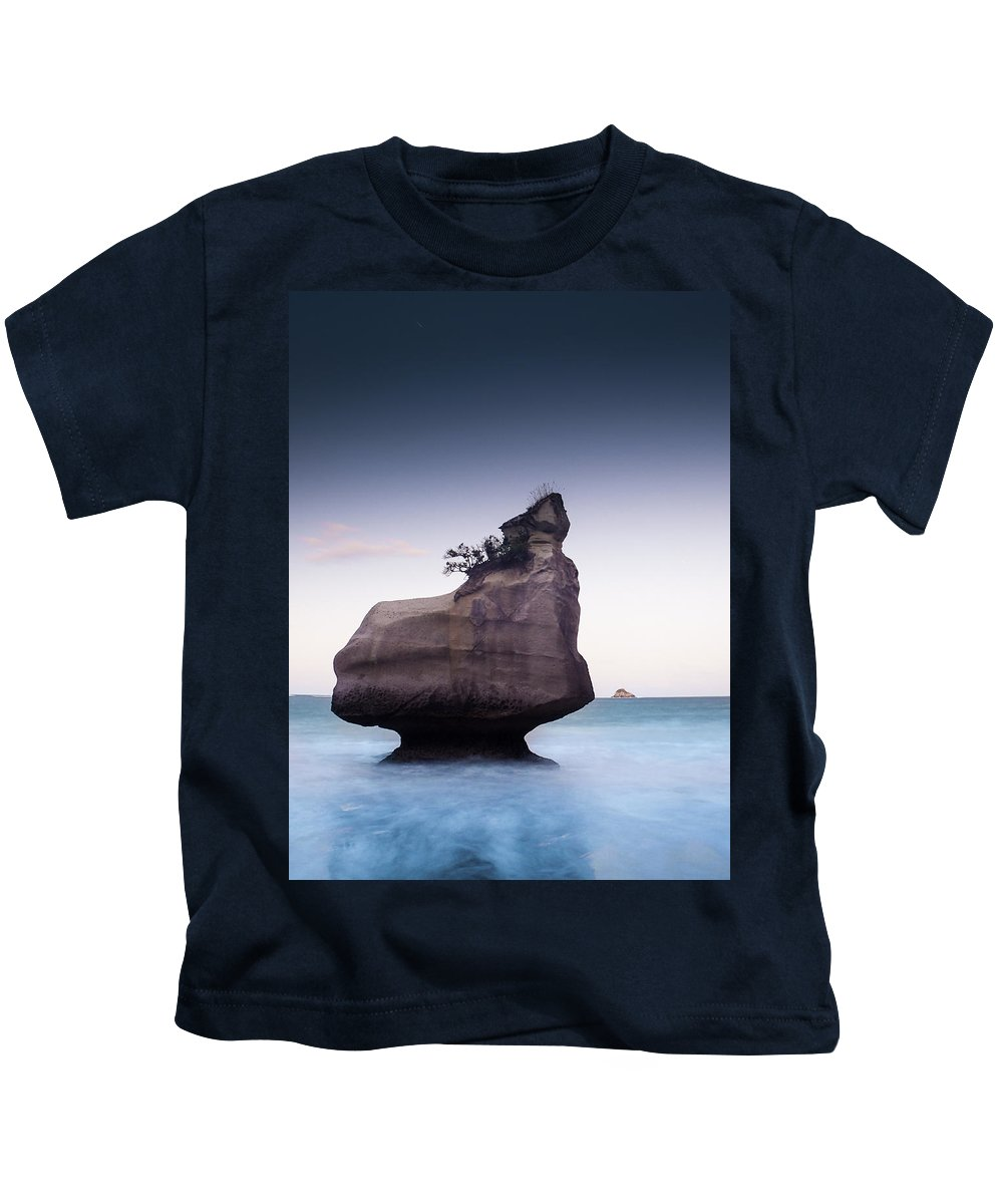 Eerie Kids T-Shirt featuring the photograph Into The Blue by Alex Conu