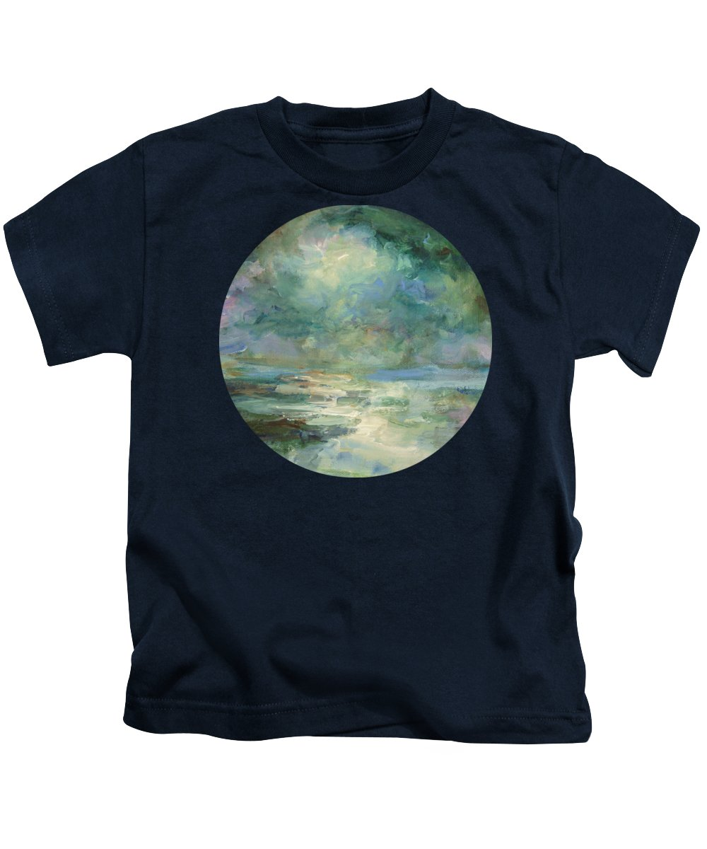 Impressionism Kids T-Shirt featuring the painting Into The Light by Mary Wolf