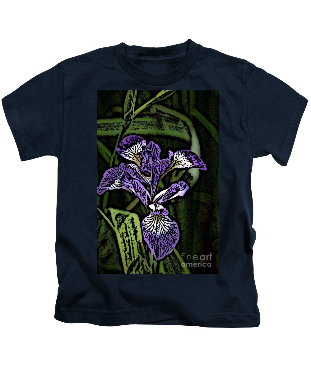 Digital Photograph Kids T-Shirt featuring the photograph Iris by David Lane