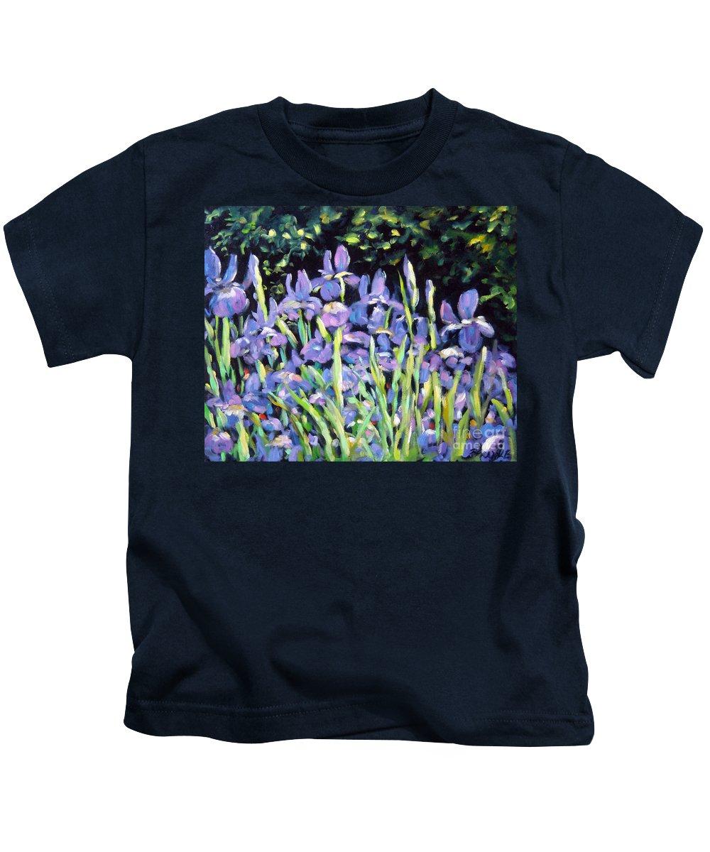 Art Kids T-Shirt featuring the painting Iris En Folie by Richard T Pranke
