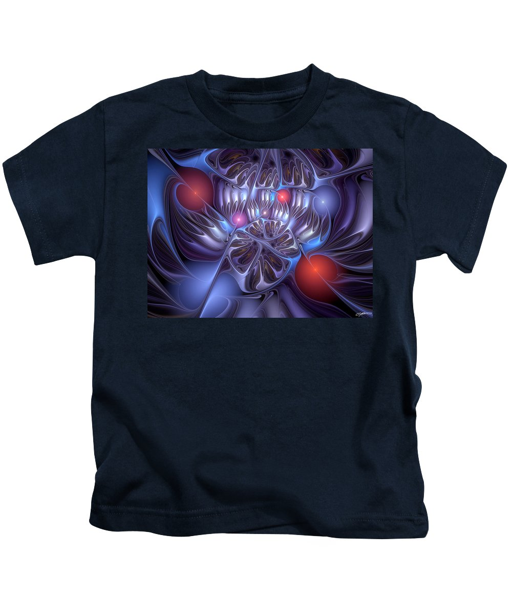 Abstract Kids T-Shirt featuring the digital art Isolation Of Dogmatic Acceptance by Casey Kotas