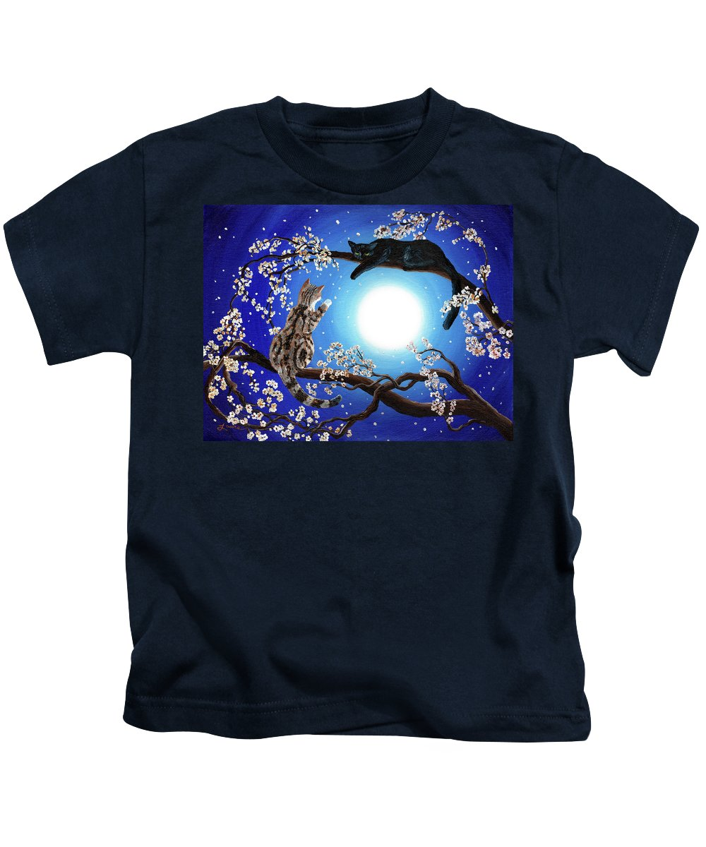 Zen Kids T-Shirt featuring the painting Jake And Sasha by Laura Iverson