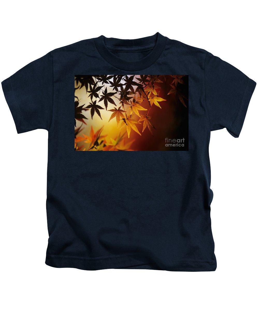 Allan Seiden Kids T-Shirt featuring the photograph Japanese Maple Leaf by Allan Seiden - Printscapes