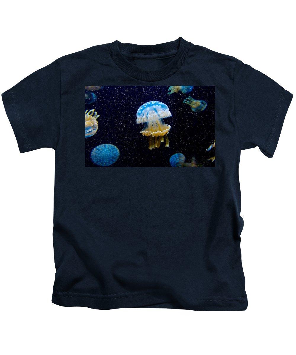 Jellyfish Kids T-Shirt featuring the digital art Jellyfish by Dorothy Binder