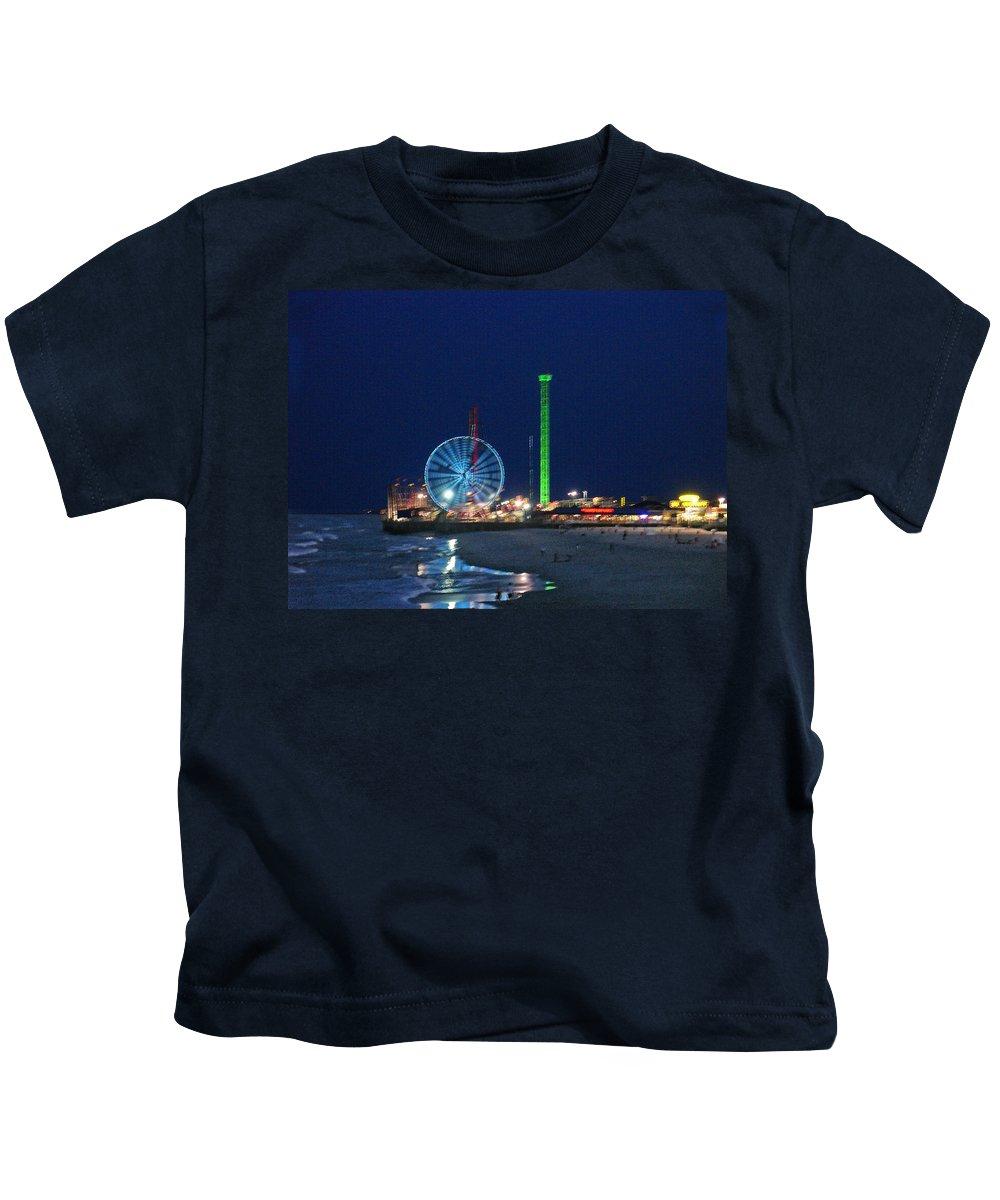 Landscape Kids T-Shirt featuring the digital art Jersey Shore by Steve Karol