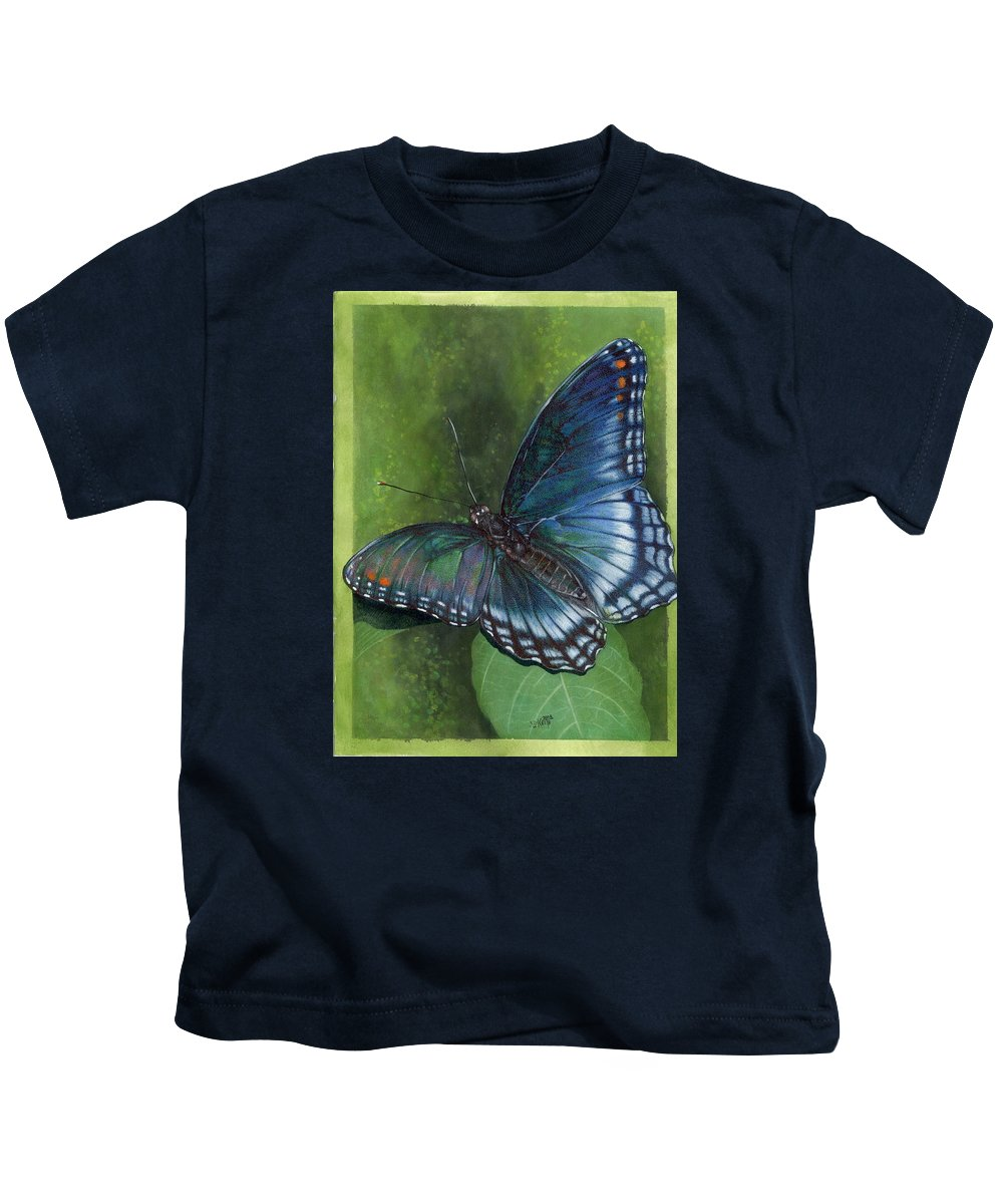 Insects Kids T-Shirt featuring the mixed media Jewel Tones by Barbara Keith