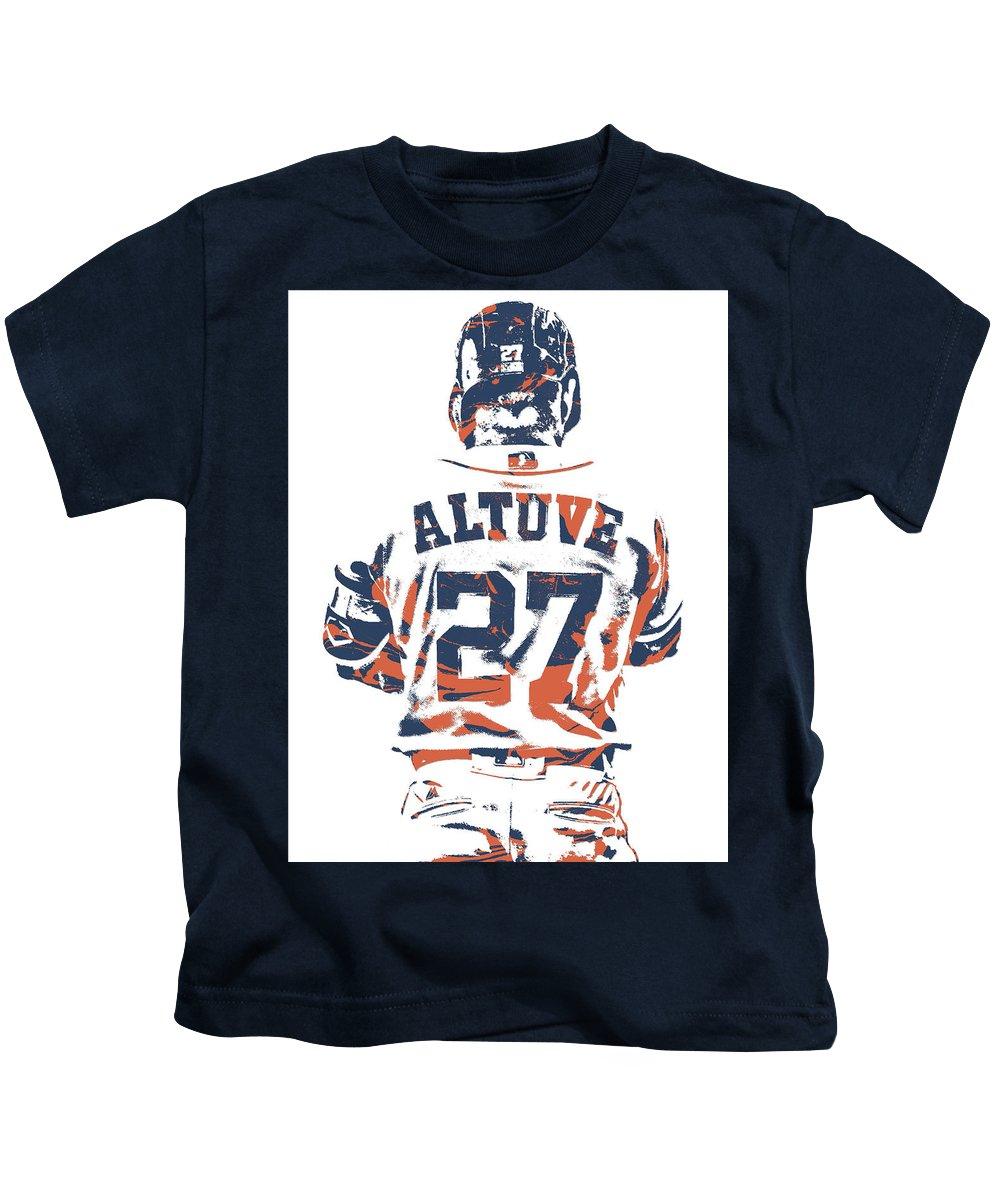 the best attitude ef393 ba43d Jose Altuve Houston Astros Pixel Art 10 Kids T-Shirt