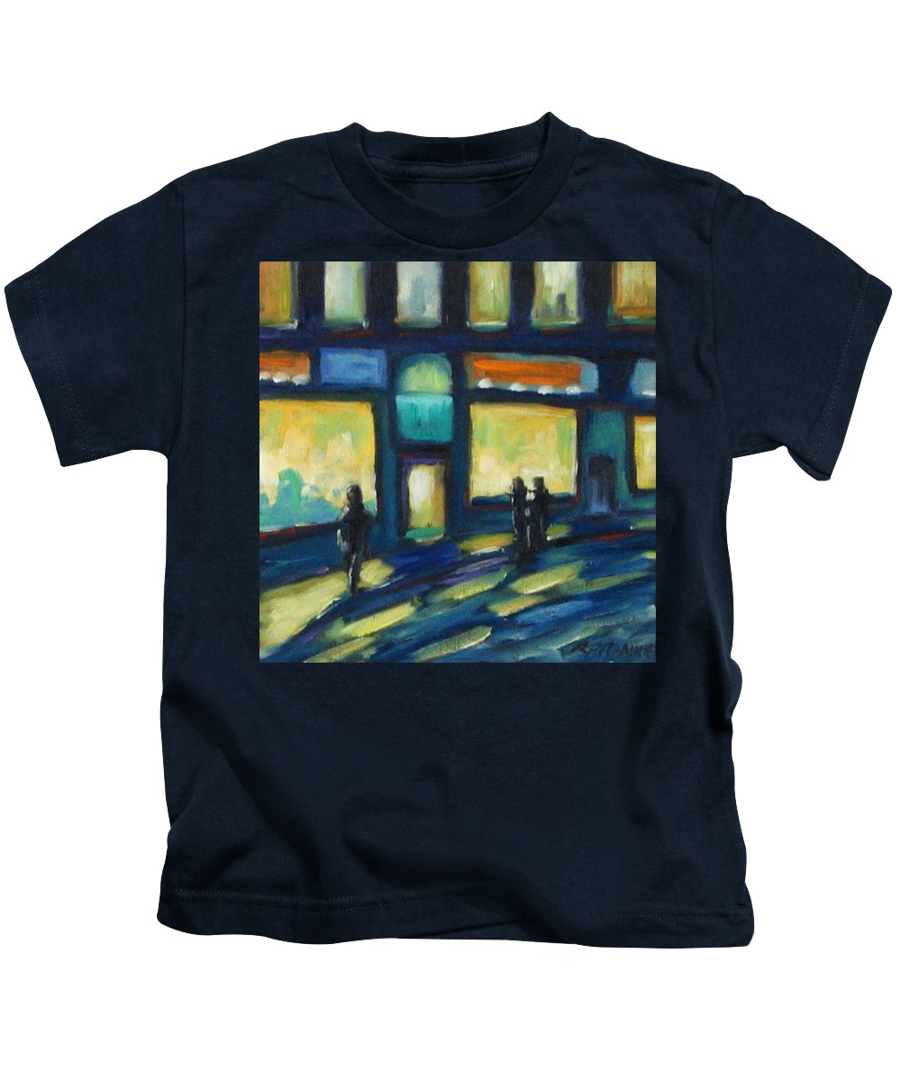 Town Kids T-Shirt featuring the painting Just Looking by Richard T Pranke